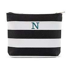 Small Personalized Makeup Bag for Women- Bliss Striped