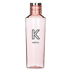Personalized Reusable Plastic Water Bottle - Line Initial Print