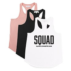 Personalized Bridal Party Wedding Tank Top - Glam Squad