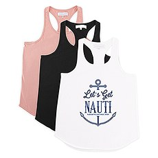 Personalized Bridal Party Wedding Tank Top - Let's Get Nauti