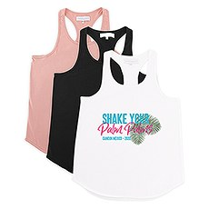 Personalized Bridal Party Wedding Tank Top - Shake Your Palm Palms