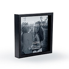 Shadow Box Photo Frame - Good Friends Etching
