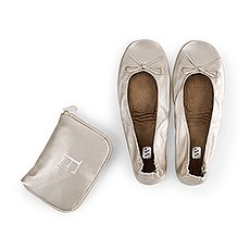 Foldable Flats Pocket Shoes - Champagne
