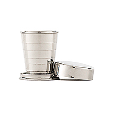 Stainless Telescopic Travel Cup - Stacked Monogram Etching