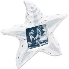 Small Wooden Starfish Photo Frame Favor and Place Card Holder