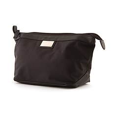 Black Nylon / PVC Shaving Travel Bag
