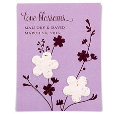 Seed Paper Love Blossoms Personalized Favor Card