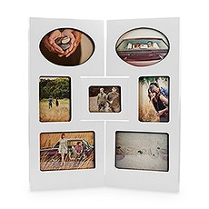 """Our Story"" Multiple Opening Photo Frame - Table Top - 2 Panels"