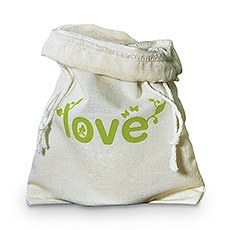 Eco Organic Cotton Drawstring Favor Bag