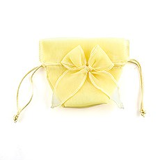 Organza Drawstring Favor Bags with Bow (12)