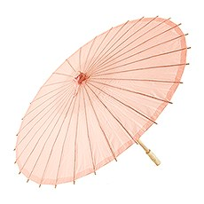 Paper Parasol with Bamboo Boning - Peach