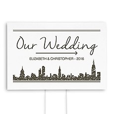 City Style Directional  Wedding Sign