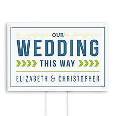 Smart Type Directional Wedding Sign