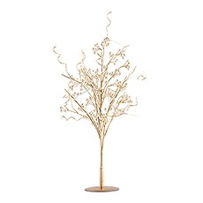 Pearl & Vintage Gold Wire Ornamental Tree