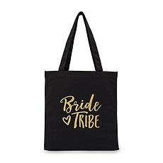 Bride Tribe Black Canvas Tote Bag