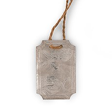 Rectangular Tin Tags with Jute Hangers (8)