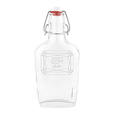 Vintage Inspired Clear Glass Hip Flask - You're A Gem Etching