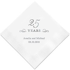 25 Years Printed Paper Napkins