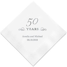 50 Years Printed Paper Napkins