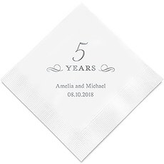 5 Years Printed Paper Napkins