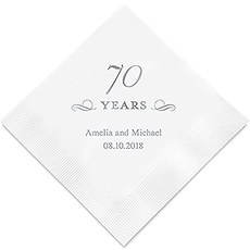 70 Years Printed Paper Napkins