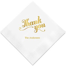 Thank You Printed Paper Napkins