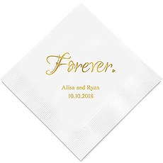 Forever Printed Paper Wedding Napkins