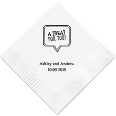 A Treat For You Printed Paper Napkins