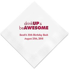 Drink Up Printed Paper Napkins