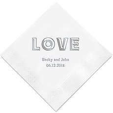Bold Love Printed Napkins