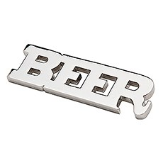 """""""Beer"""" Opener with Magnets - Silver"""