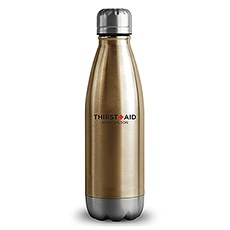 Central Park Travel Bottle - Matte Gold - Thirst Aid Printing