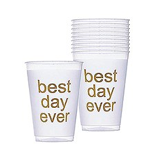 Best Day Ever Frosted Plastic Tumblers