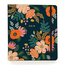 2017/2018 Lively Floral 17 Month Planner