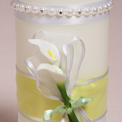 Bridal Beauty Calla Lily Wedding Unity Candles