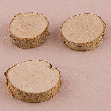 Miniature Natural Birch Wood Circle Slices