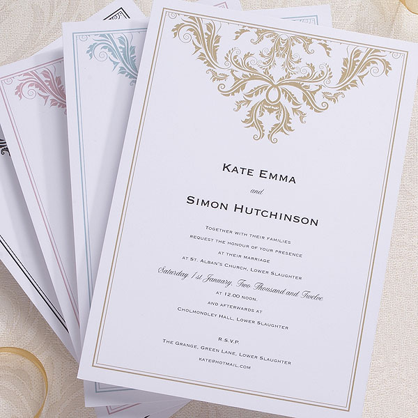 Baroque Invitation - Confetti.co.uk