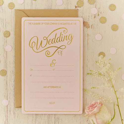 Wedding Invitation Packages Canada: Pastel Pink Wedding Invitations
