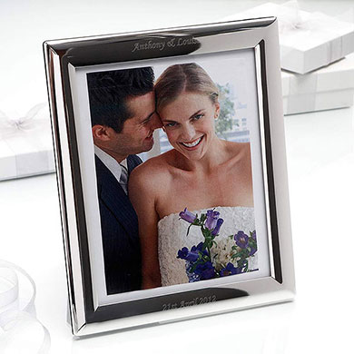 Personalized Silver Plated Photo Frame Large