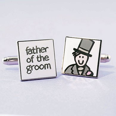 Father Of The Groom Picture Cufflinks