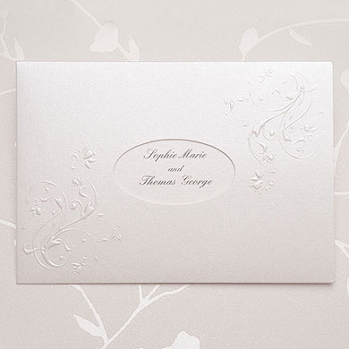 Elegance Embossed Wedding Stationery Invitation