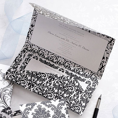 Fleur De Lys Pearlised Wallet Range Evening Invitation