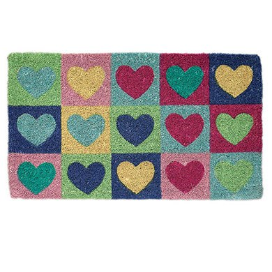 Hearts Doormat Confetti Co Uk