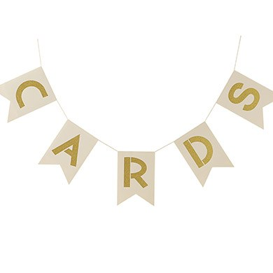 Ivory And Gold 'Cards' Bunting