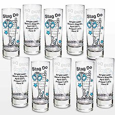 Personalized Stag Shot Glasses Pack
