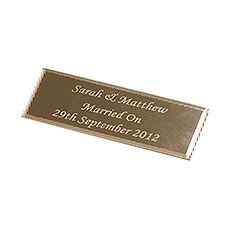 Personalized Plaque Gold