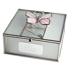 Personalized Butterfly Trinket Box