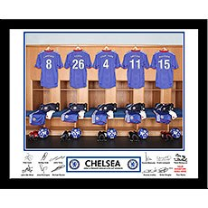 Personalized Football Team Frame Chelsea