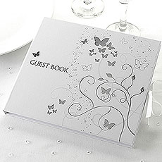 Elegant Butterfly Wedding Guest Book