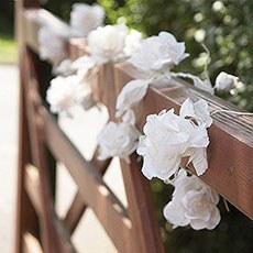 White Heavenly Flower Garland